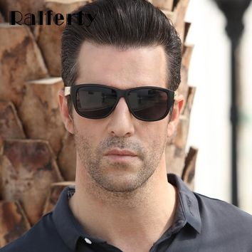 Ralferty Square Style Bamboo Sunglasses With Wooden Temples, Plastic Frames and UV400 Lenses