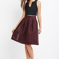 Shadow Stripe Mesh Skirt