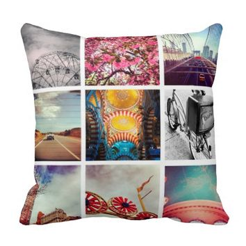 Custom Instagram Photo Collage Pillows