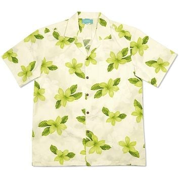 delight green hawaiian cotton shirt