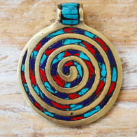 TIBETAN GOLD ➳ COLOURFUL SPIRAL