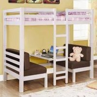 Convertible Loft Bed (White) by Coaster Furniture