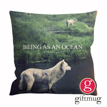 Being as An Ocean Wolf Cushion Case / Pillow Case