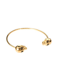 River Island Double Skull Skinny Bangle