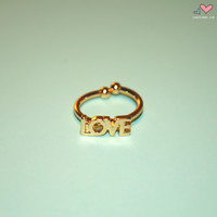 Gold Love Midi Ring