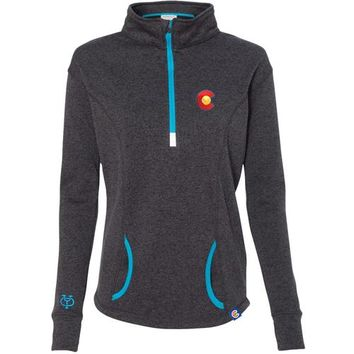 LADIES MOMENTUM QUARTER ZIP FLEECE JACKET