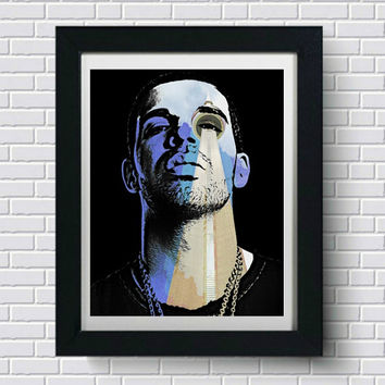 Drake Wall Art, Toronto CN Tower Art Print,  Artwork, Poster, Pop Art