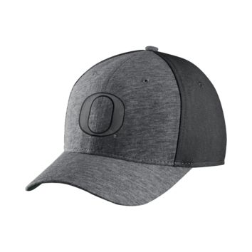 Nike College Jersey Color-Blocked Swoosh Flex (Oregon) Fitted Hat Size FLX
