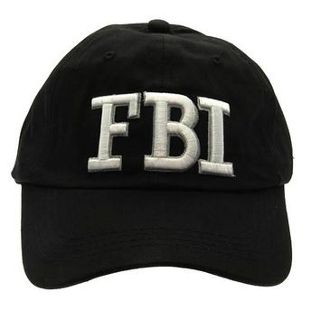 Black Message Fbi Hat And Cap