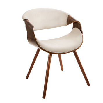 Curvo Chair Walnut, Cream