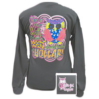 Girlie Girl Originals Give A Hoot Owl Southern Long Sleeve Bright T Shirt