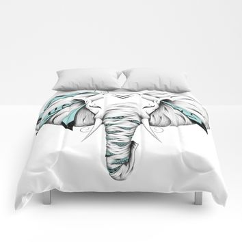 Poetic Elephant Comforters by LouJah