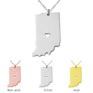Indiana Girl State Necklace - 3 Colors