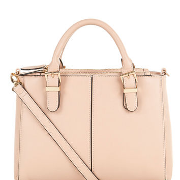 Dani Double Zip Handheld Bag | Pink | Accessorize