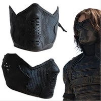 High Quality Captain America 2 Winter Soldier James Buchanan/Bucky Barnes Cosplay Latex Mask
