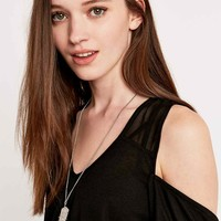 Sparkle & Fade Chiffon Insert Ribbed Top in Black - Urban Outfitters
