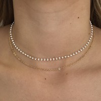 Oh So Dainty Choker Necklace in Gold