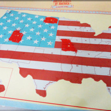 Travel Portable Creative Gifts World Map Scratch Map American Map [6284423430]