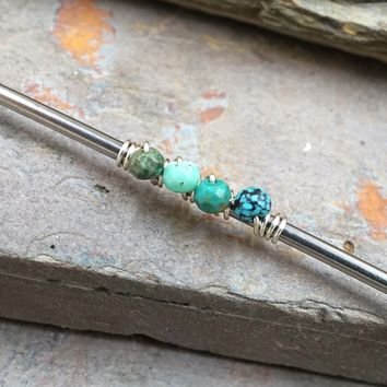 Turquoise Industrial Barbell 14g or 16g