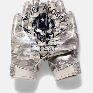 Under Armour Boys UA Army Navy Camo Limited LE F5 Youth Football Receiver Gloves