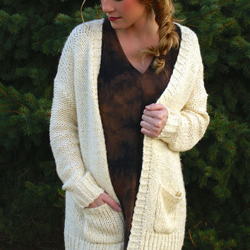 As Simple As It Gets Cardigan: Cream