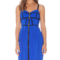 Amanda Uprichard Corset Nadia Dress in Blue