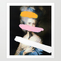 Brutalized Gainsborough 2 Art Print by Chad Wys