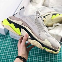 Balenciaga Tripl S Trainers Grey Black Fluorescent Green Sneaker - Best Online Sale