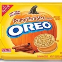 Oreo - Pumpkin Spice Creme Filling Sandwich Cookies 1x10.7oz Packet