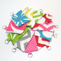 Coin Purse Set - Choose 5 - Chevron Floral Polka Dots - Change Purse - Coin Wallet - Party Favors - Zipper Pouches