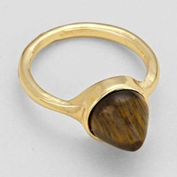 """Cone Stone Rings Brown Gold 0.3""""Height 0.75""""Diagram"""
