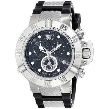 Invicta 14941 Men's Subaqua Noma III Chronograph Black Dial Steel & Rubber Strap Dive Watch