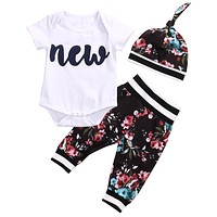 """New"" Baby Floral Set"