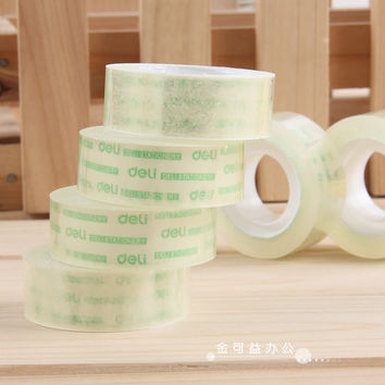 1 Pcs Deli 18mm X 18y Transparent Scotch Office Adhesive Tape Supplies Stationary