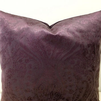 Purple Velvet Pillow Covers, Velvet Pillows, Throw Pillows, Purple Cushion, Velvet Cushion, Decorative Pillows, Purple Velvet Pillow Covers