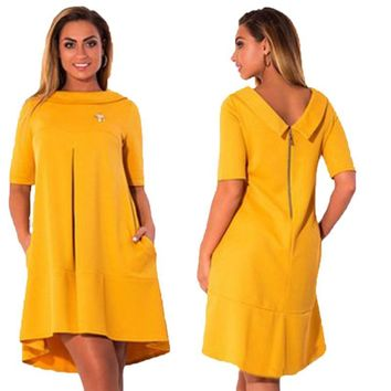 Plus Size Half Sleeve Dress