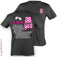 Simply Southern Funny Alabama Chevron Sweet Girlie Bright T Shirt