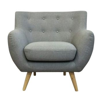 Ebba Armchair - Light Grey