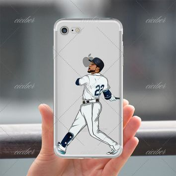 22 Baseball Clear Phone Case for ALL iPhone 7 7Plus 6 6s Plus 5 5s SE