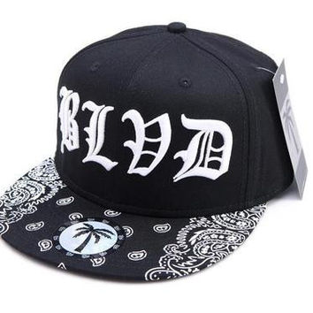 BLVD SUPPLY PAISLEY PRINT SNAPBACK HAT