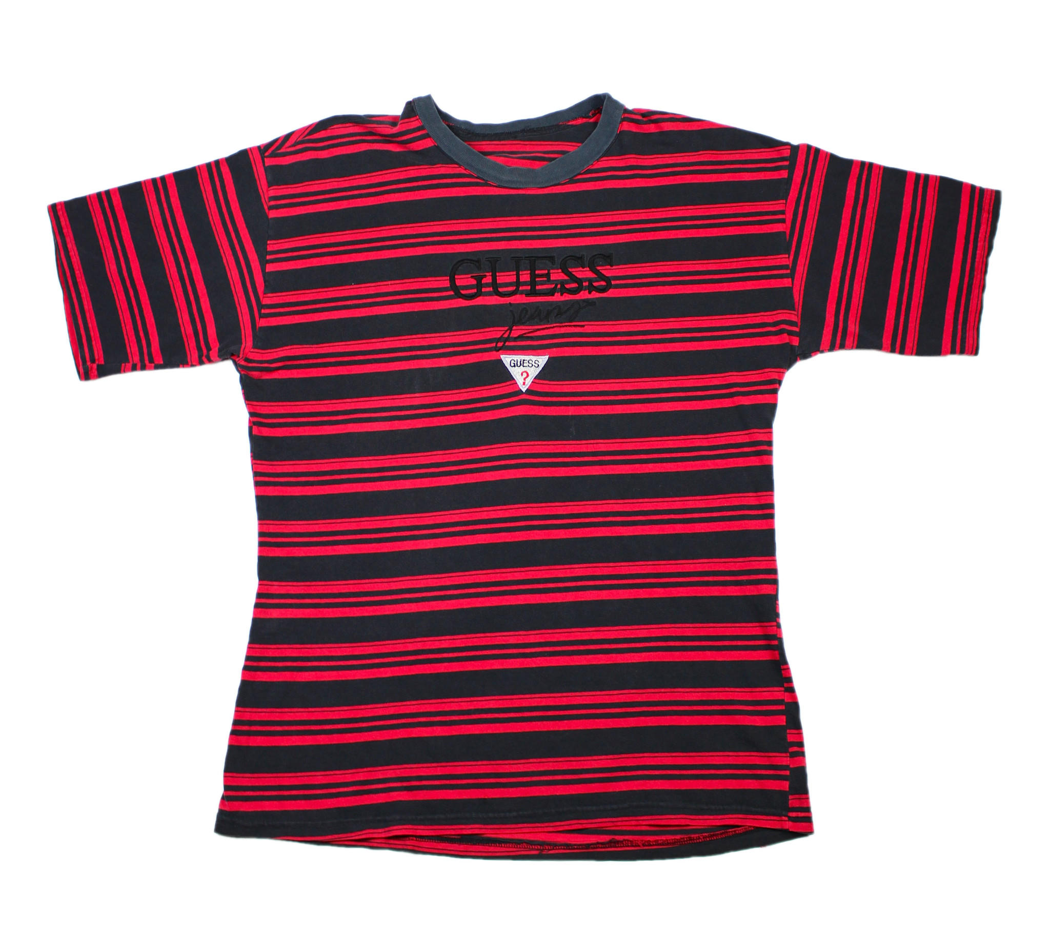 Vintage 90s GUESS Striped T Shirt In From Vintage Mens Goods