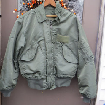 vintage  usa military by alpha  industries CWU-45P  cold weather  Flight  BOMBER  Jacket   sz large