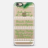 Down To Kokomo - Travel The World - Green Palms iPhone 6 case by Love Lunch Liftoff | Casetify