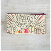 Natural Life Zipper Bag - Sunshine