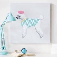 Poodle Wall Art, Pool Chevron