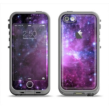 The Violet Glowing Nebula Apple iPhone 5c LifeProof Fre Case Skin Set