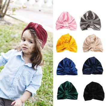 Indian Baby Hat Tire Cap Pleuche Knotted Children's Hats Boy And Girl Baby Hat For And Winter