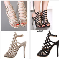 women high heels sandals shoes woman party wedding ladies pumps ankle strap glad