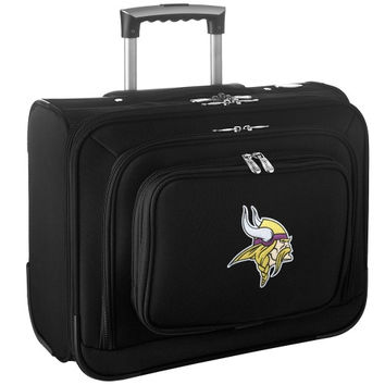 Minnesota Vikings Carry-On Rolling Laptop Bag - Black - http://www.shareasale.com/m-pr.cfm?merchantID=7124&userID=1042934&productID=540327670 / Minnesota Vikings