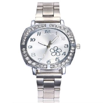 Stainless Steel Rose Gold Ladies Watch